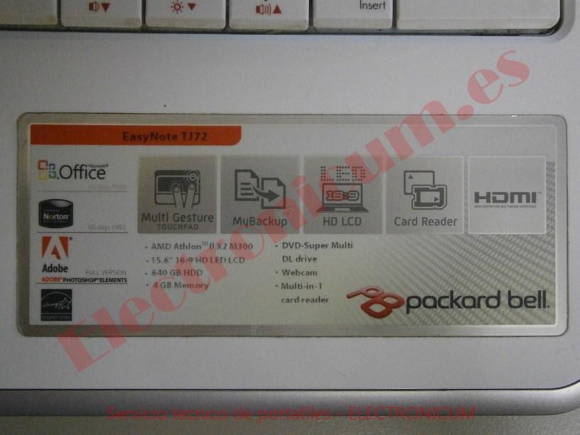 Packard Bell MS2285 TJ72 servicio tecnico