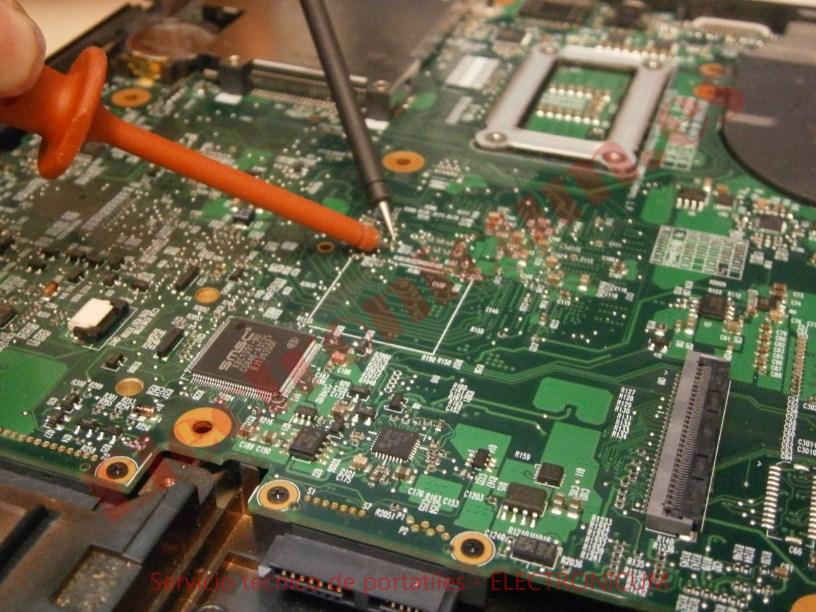 buscar cortocircuito placa base HP Compaq 6730s