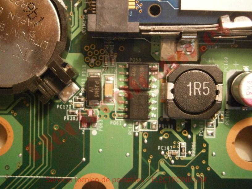 cambiar transistor mosfet HP DV6-2165