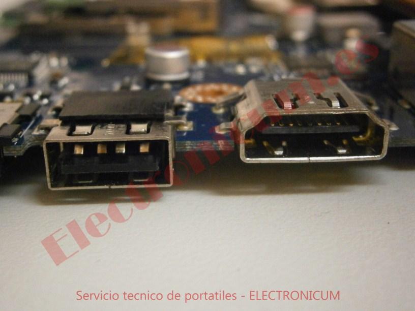 reparar conector usb Packard Bell NEW91