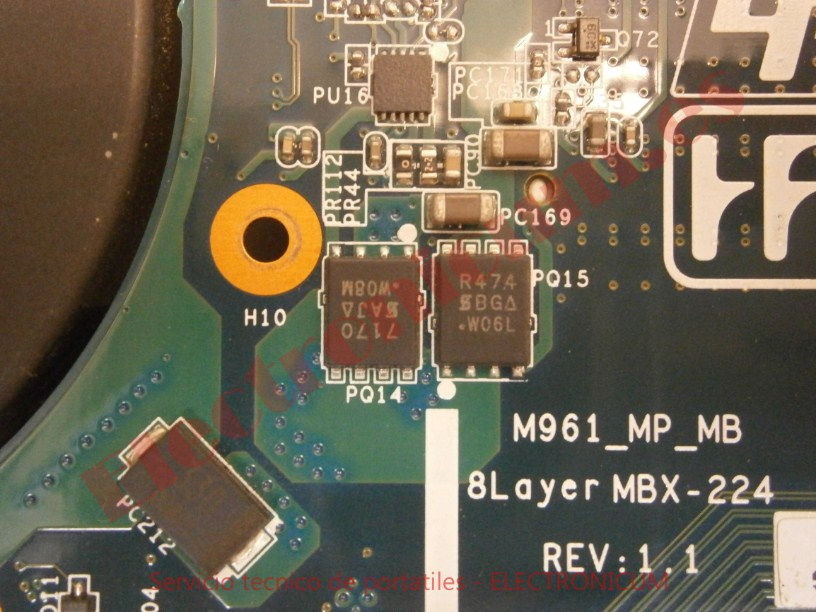 cambiar mosfets Sony Vaio no enciende
