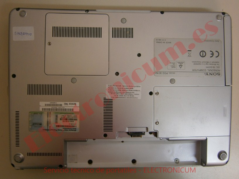 desmontar Sony Vaio PCG-3C1M