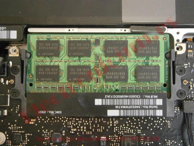 memoria Macbook Pro A1278