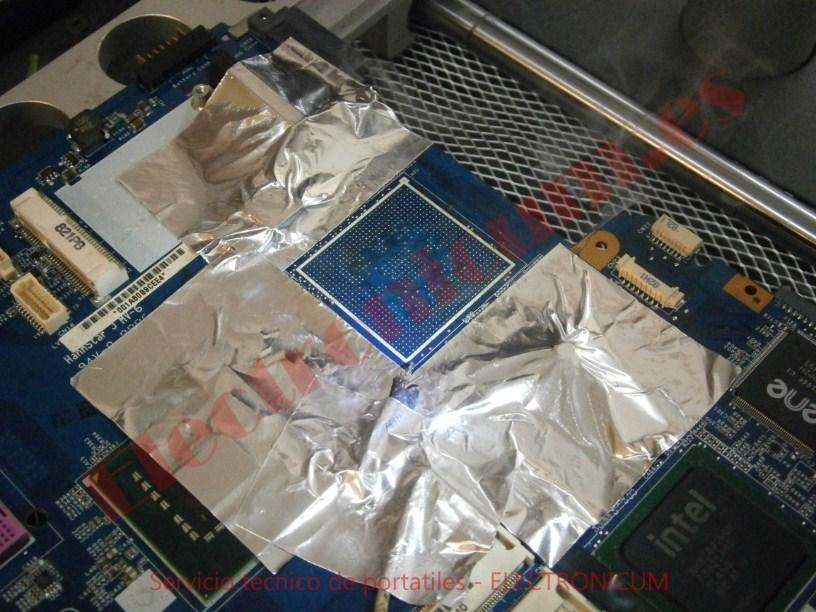 placa base se limpia para el reballing