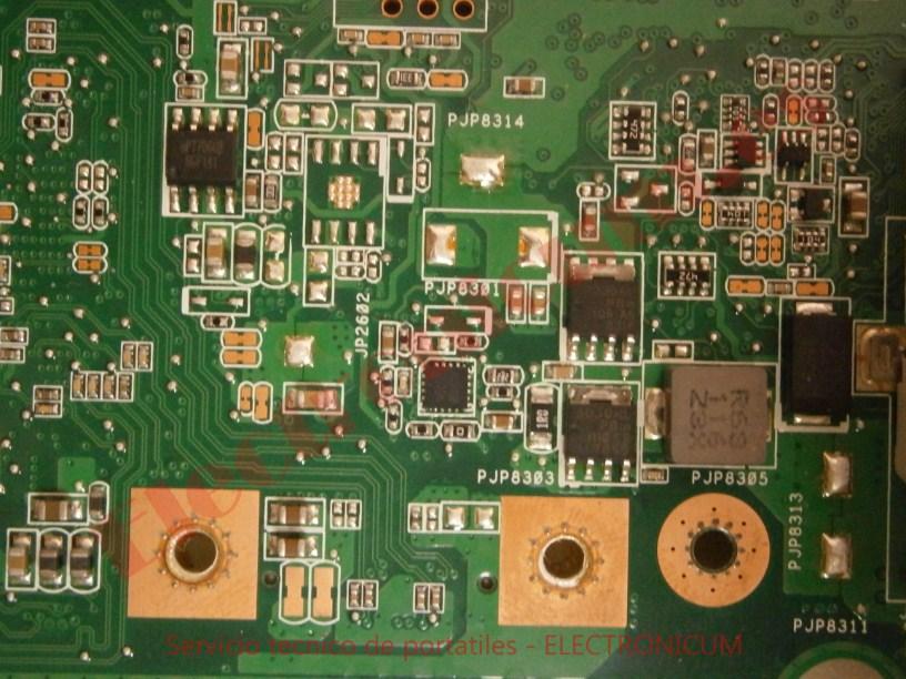 reparar cortocircuito Asus N73S