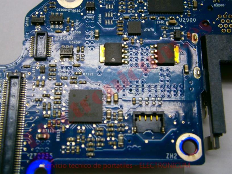 arreglar placa base macbook pro