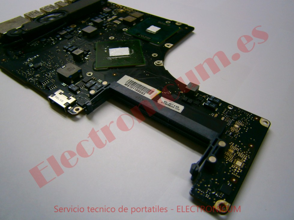 reparar placa base macbook