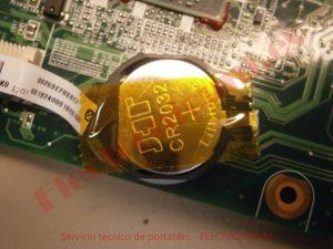 CR2032 pila portatil HP DV6