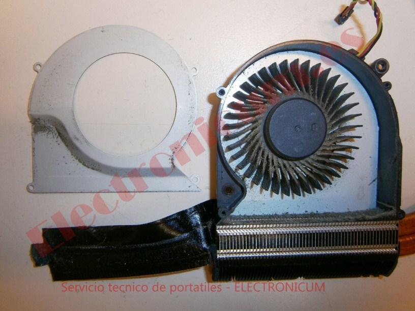 limpiar ventilador Toshiba Satellite C855-21M