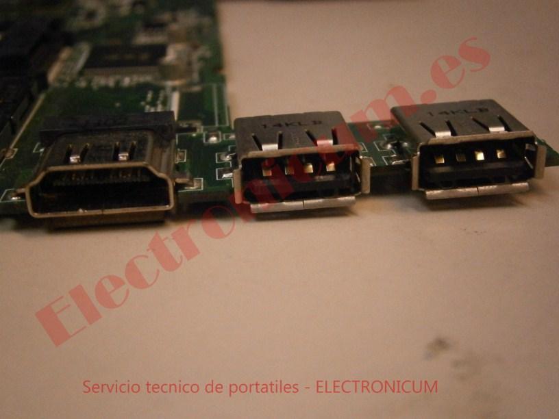 puertos USB placa base asus