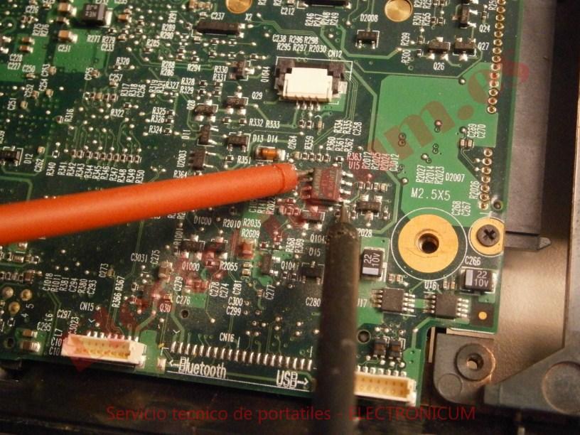 Medir mosfer placa base HP Compaq 6730s