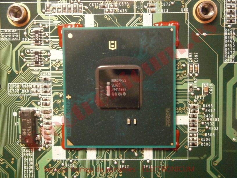 Reballing PCH PM55 HP DV6-2165