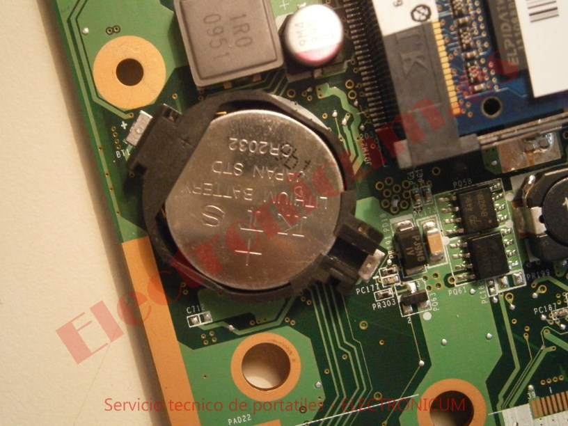 cambiar pila 3V en HP DV6-2165