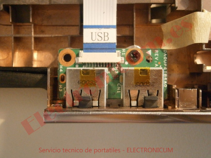 cambiar placa usb HP DV6-2165
