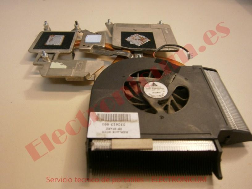 cambiar ventilador HP DV6-2026