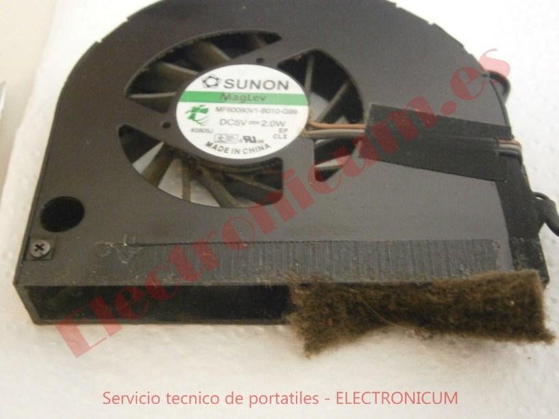 limpieza ventilador Packard Bell NEW91