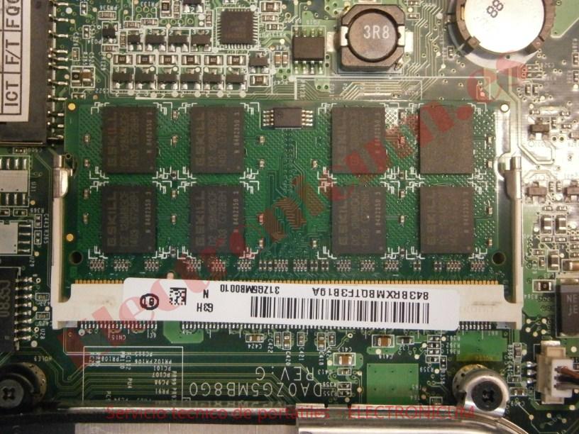 Acer Aspire One Zg5 reparacion