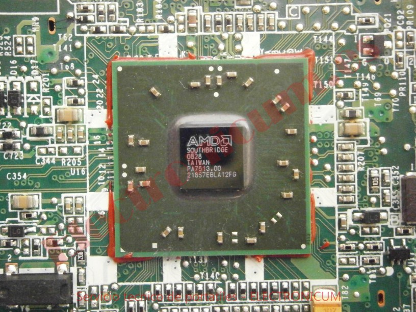 puente sur placa base HP TX2500