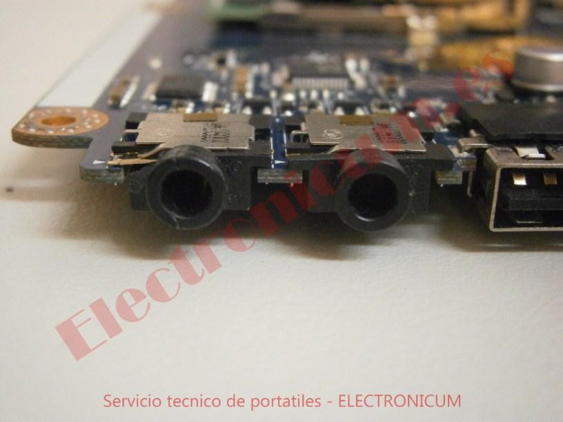 reparar conector audio Packard Bell NEW91