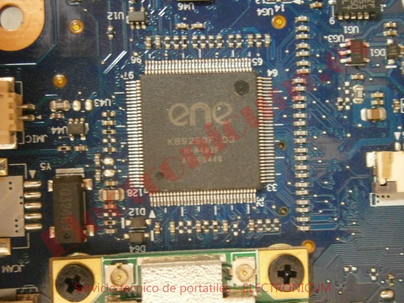 kbc ene reparar cortocircuito Toshiba Satellite A500