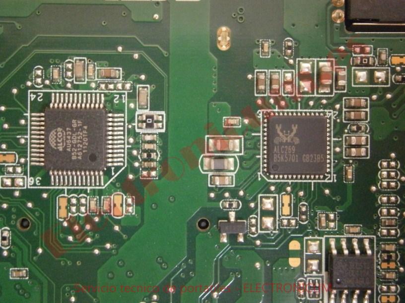 reparar cortocircuito placa base Asus X54H