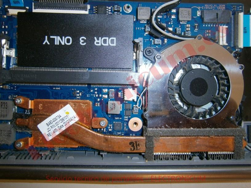 limpiar ventilador Samsung 530U