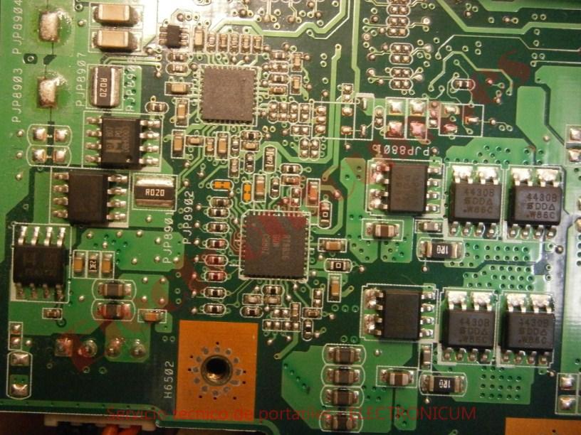 reparar placa base Asus N61J