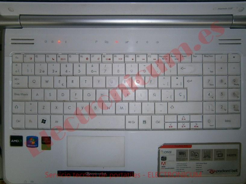 Packard Bell TJ72 reparacion de portatiles