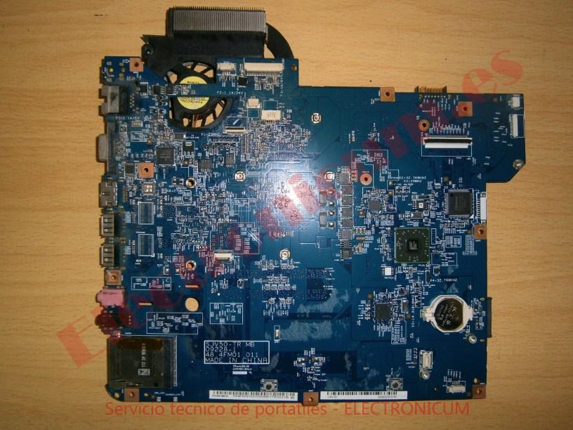 placa base portatil Packard Bell