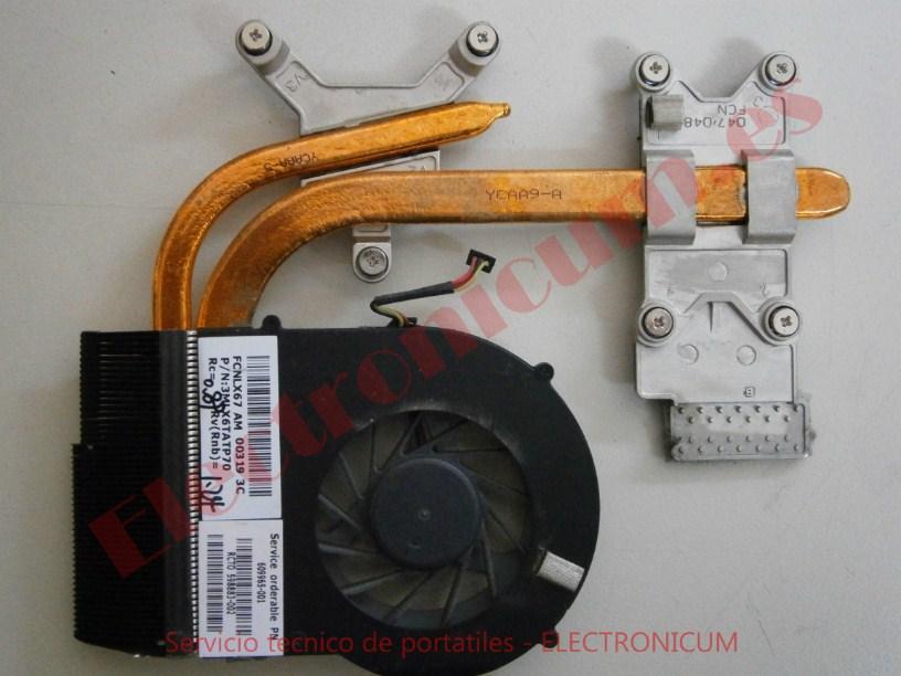 limpieza ventilador HP DV7